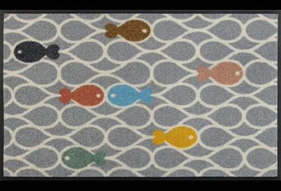 Wash+dry mat Fishpond 50 x 75 cm
