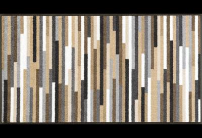 Wash+dry mat Mikado Stripes Nature 60 x 140 cm