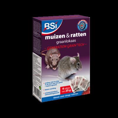 Muizen- en rattenvergif 6 x 25 g