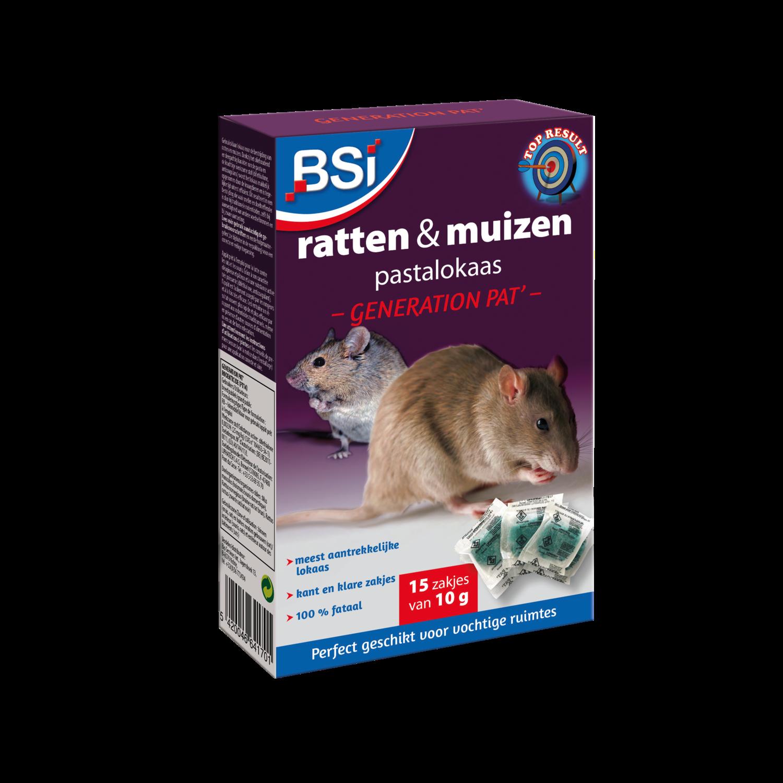 Muizen- en rattenvergif bsi pasta 15 x 10 g