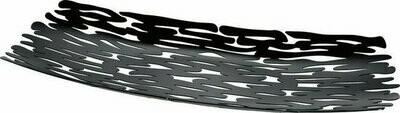 schotel Alessi Bark stainless steel zwart