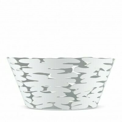 schaal Alessi Bark stainless steel wit