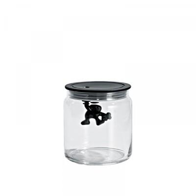 voorraadpot Alessi Gianni 0.7 L zwart