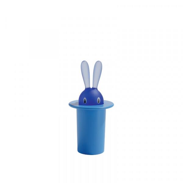 tandenstokerset Alessi Magic Bunny blauw