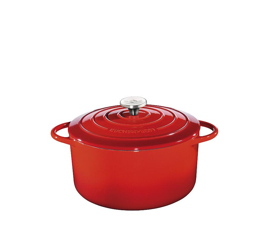 stoofpot gietijzer küchenprofi rood rond 28cm