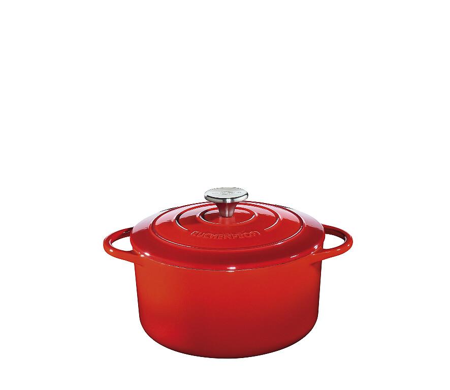 stoofpot gietijzer küchenprofi rood rond 24cm