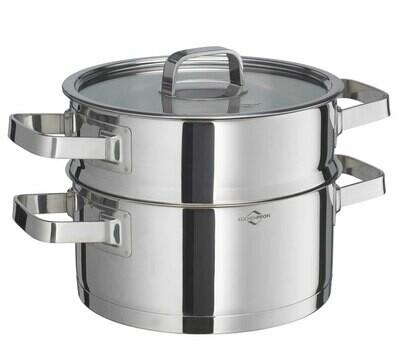 Kookpot + stoominzet 3 L