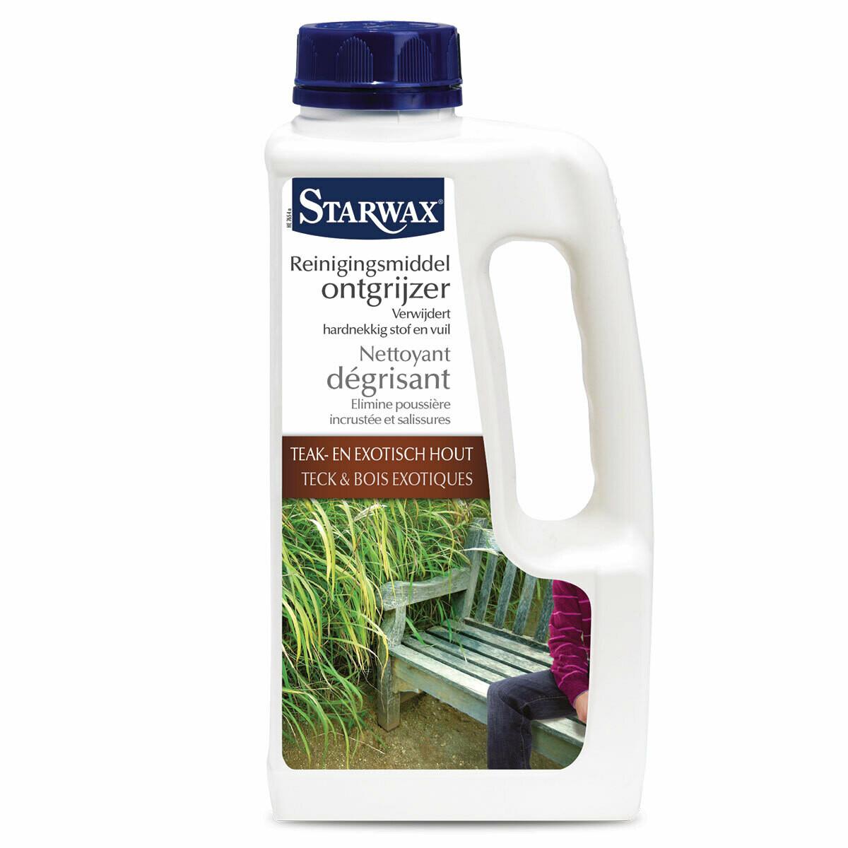 Starwax reinigingsmiddel ontgrijzer 1 L teak & exotisch hout