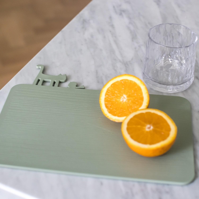 snijplank - ontbijtplank Koziol green