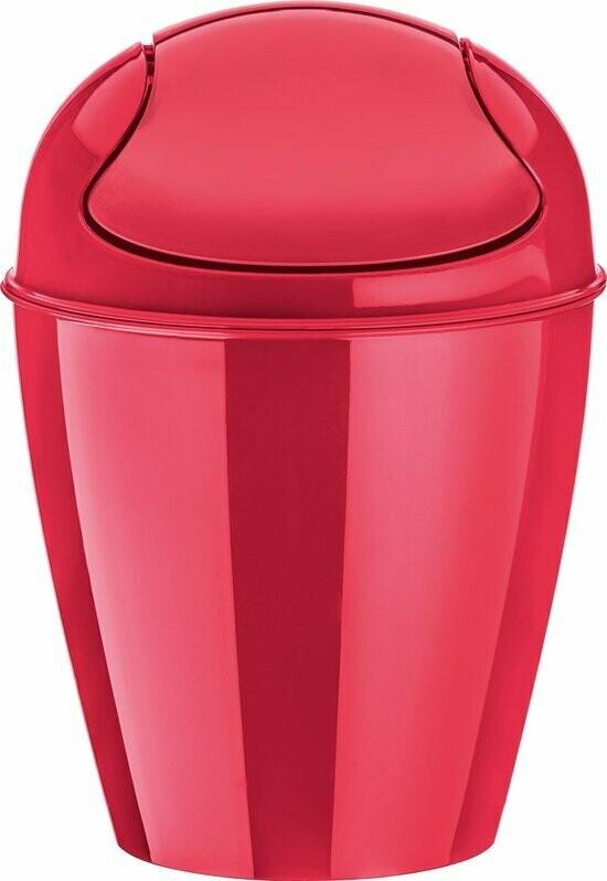 afvalbak xs met zwenkdeksel Koziol cosmo rood 2 L