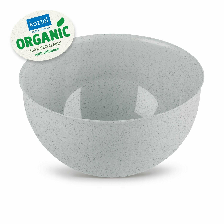 Set bowl + vergiet 2 L  Koziol Palsby grijs