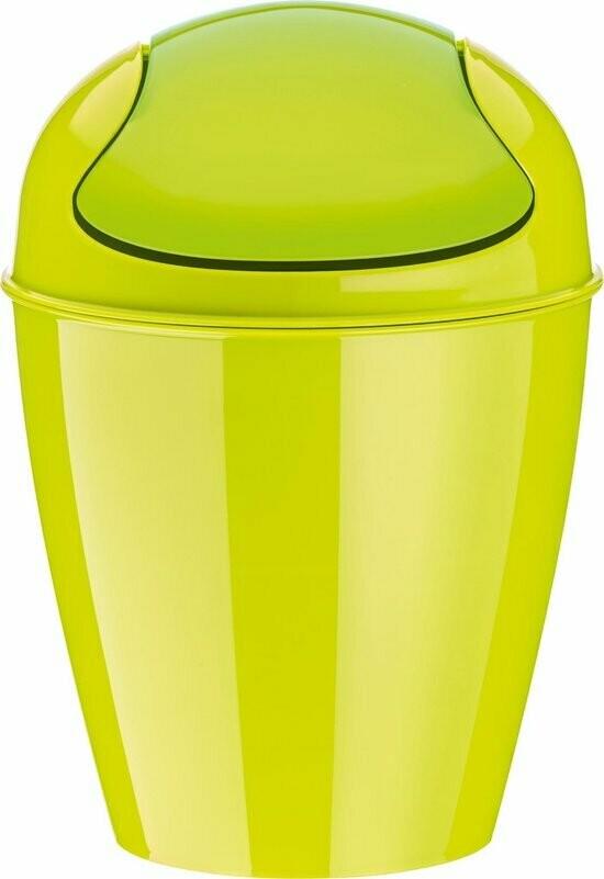 afvalbak xs met zwenkdeksel Koziol cosmo groen 2 L
