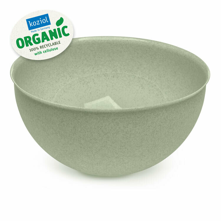 Set bowl + vergiet 5 L  Koziol Palsby groen