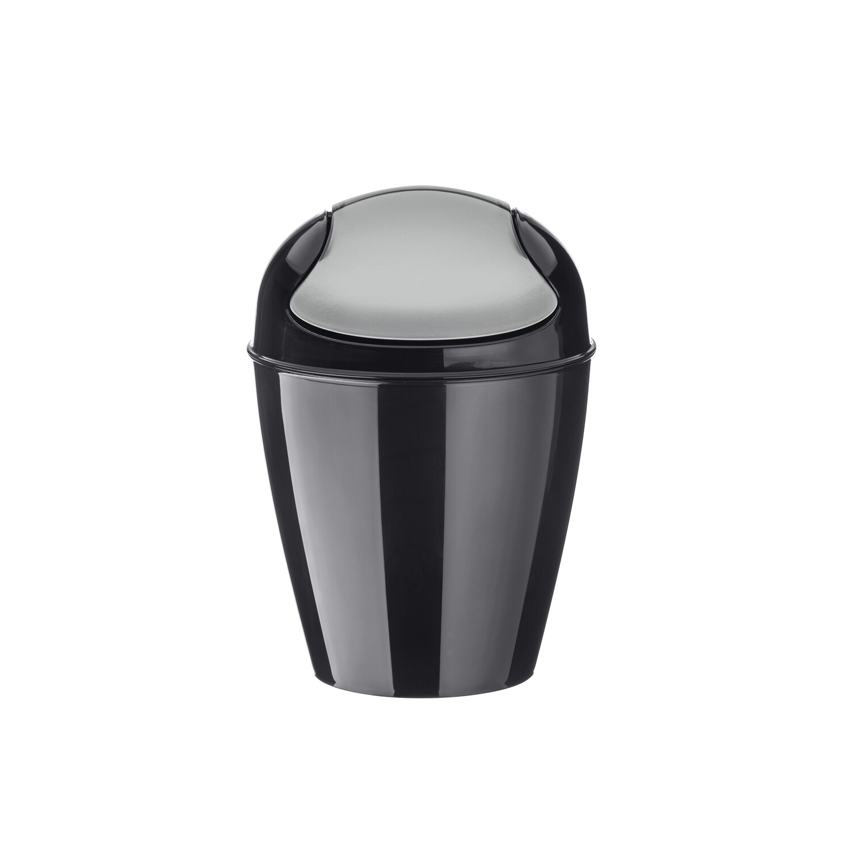 afvalbak xs met zwenkdeksel Koziol cosmo zwart 2 L