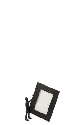 Figuur Met Fotokader Aluminium Zwart Small J-line