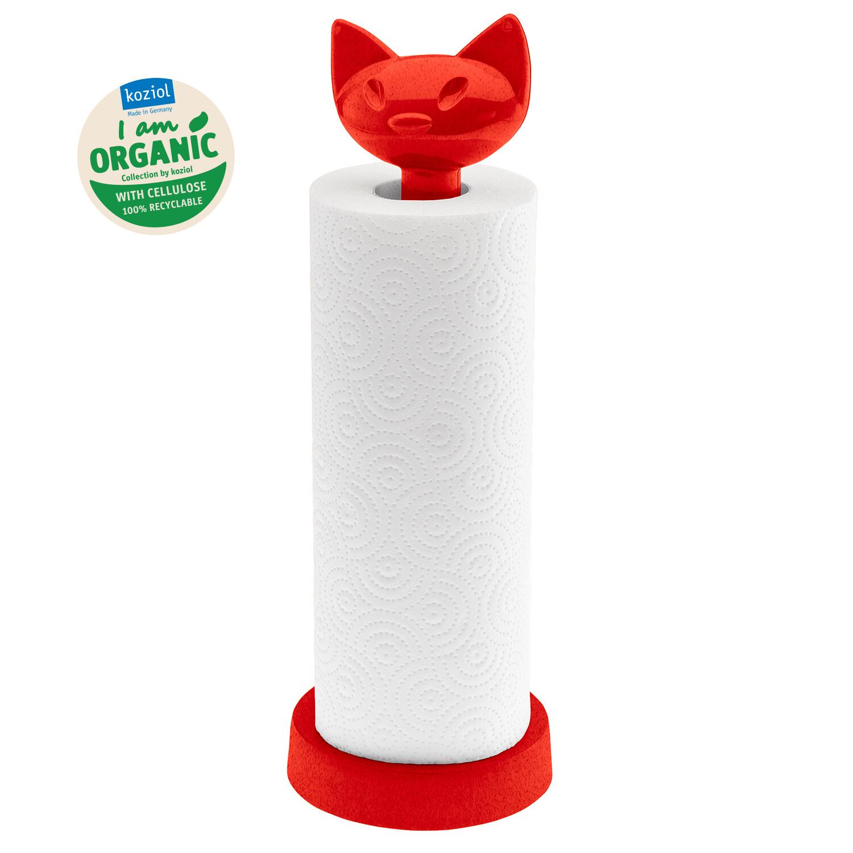 keukenrolhouder Koziol Miaou rood