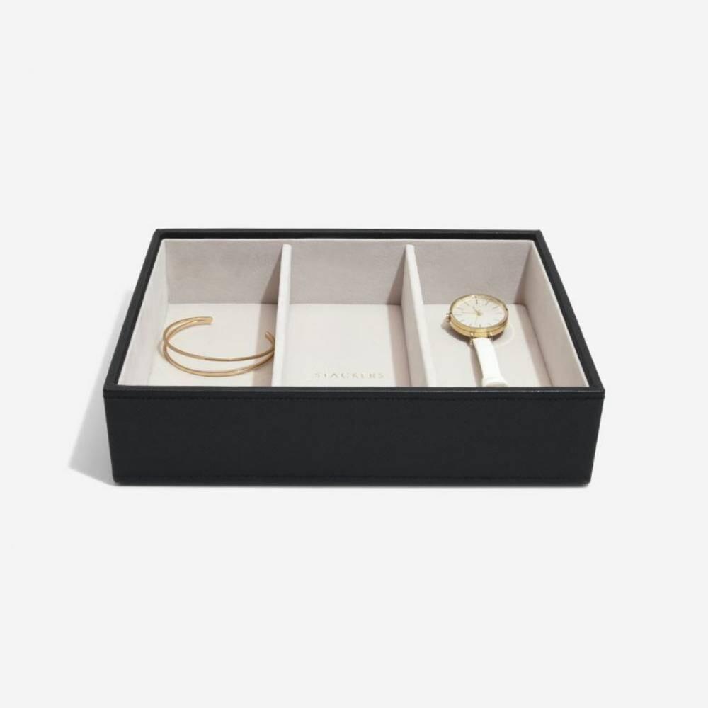 Stackers juwelenlade classic 3 vakken zwart