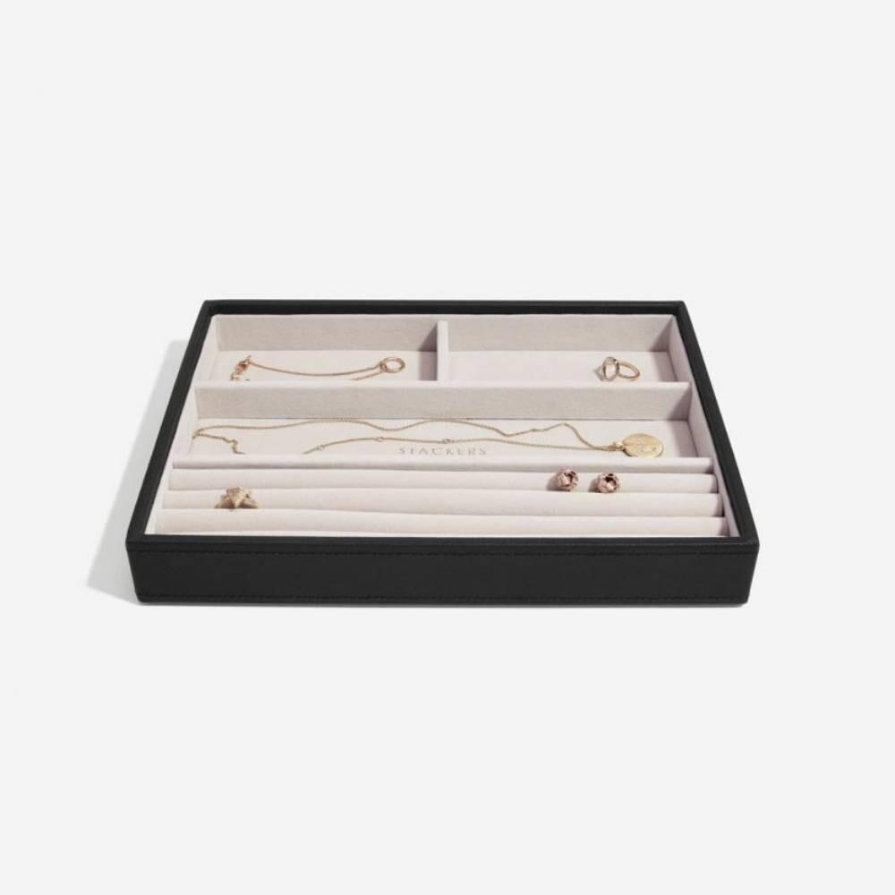 Stackers juwelenlade classic 4 vakken zwart