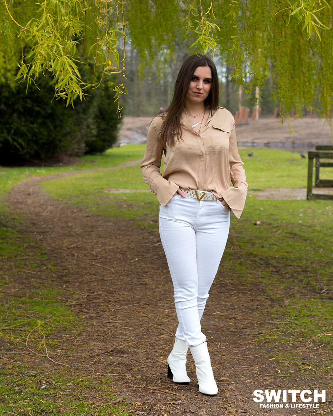 Colored Skinny Jeans Offwhite