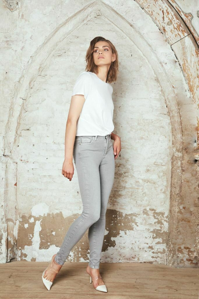 Colored Skinny Jeans Grijs