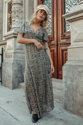 Ava Maxi Dress Geo