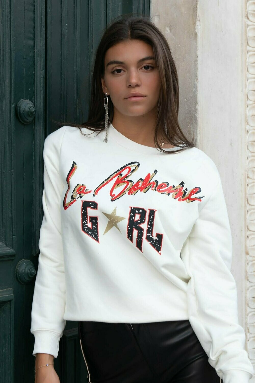 La Boheme Girl Sweater Offwhite