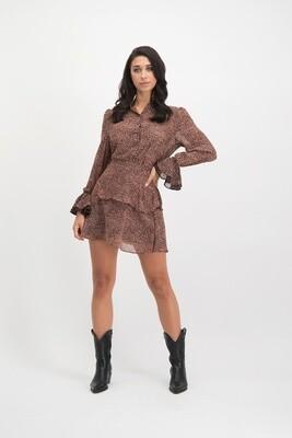 Zoleste Skirt Pink/Brown