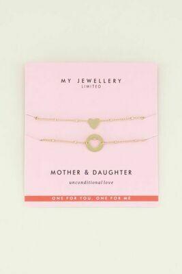 Mother-Daughter armbandjes Goud