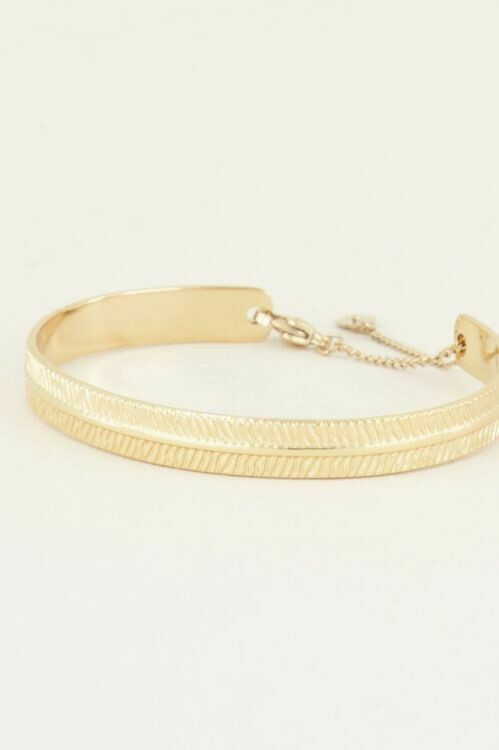 Armband Bangle Streepjes Goud