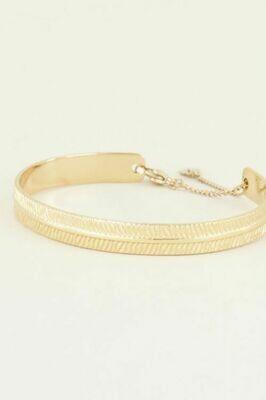Armband Bangle Streepjes Goud