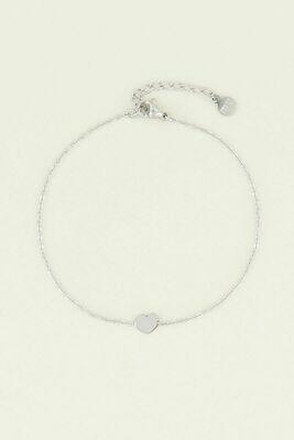 Armbandje Hartje Zilver