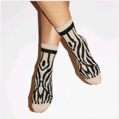 Glittersokjes Zebraprint