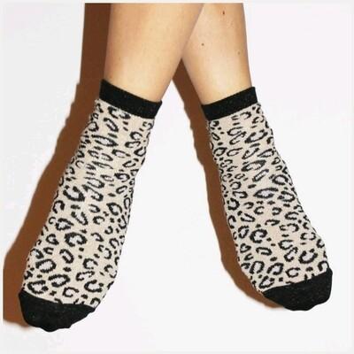 Glittersokjes Leopard