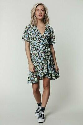 Telsi Wrap Dress Flower
