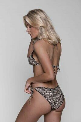 Jade Leopard Ruffle Bikini Bottom