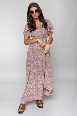 Ava Flower Wrap Dress