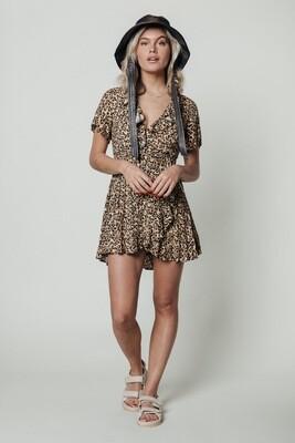 Telsi Leopard Dress Brown