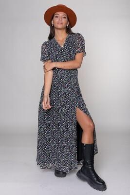 Ava Ditzy Flower Wrap Dress