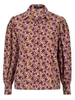 Dagmar Blouse Purple Flower