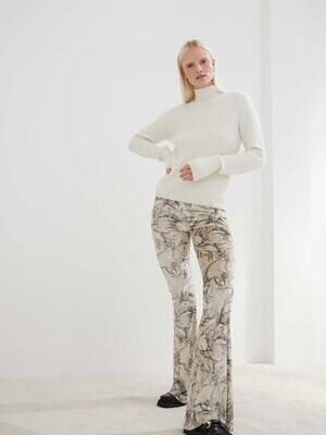 Velvet Marble Flare Pants