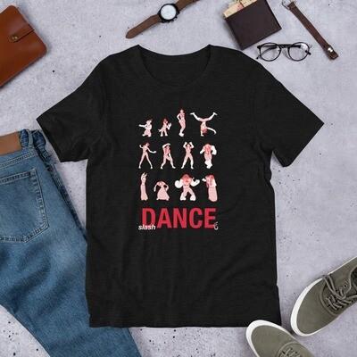 slash Dance (red) | Short-Sleeve Unisex T-Shirt
