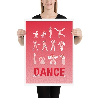 slash Dance (red) | Print