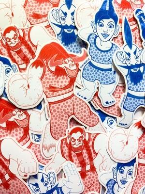 slash Dance   Sticker 4-Pack