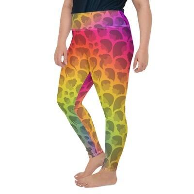 Rainbow Queen Leggings (Plus Size)
