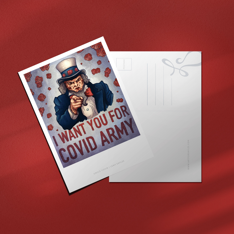 "Uncle Covid –4x6"" Postcard"