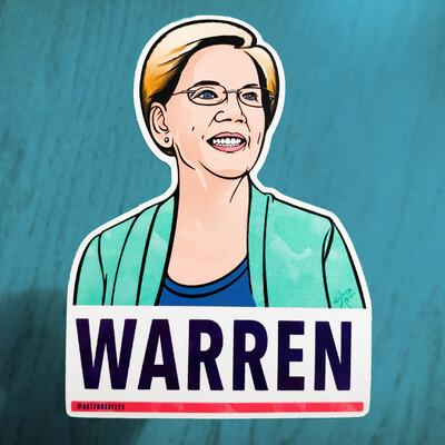 Warren –100% FREE Limited Edition Sticker!
