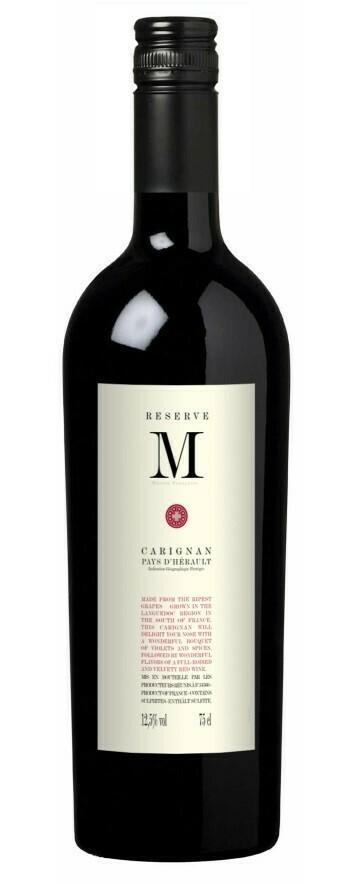 """Reserve """"M"""" Carrignan Vieille Vignes, Igp Pays D'Oc - 75cl"""