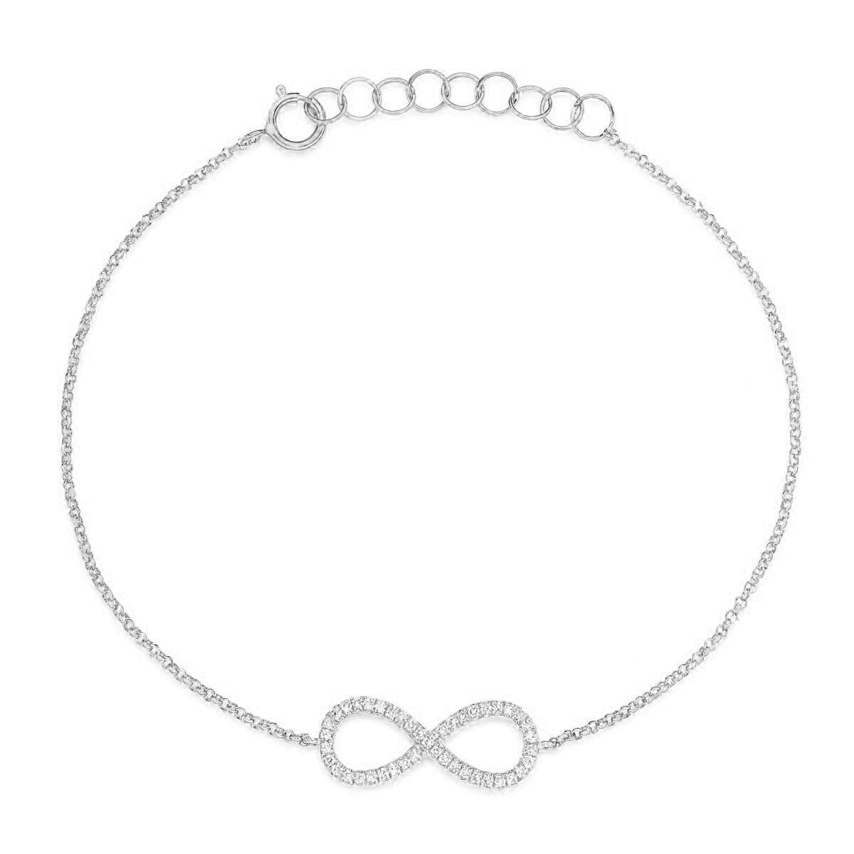 Armband infinity diamant
