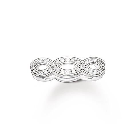 Thomas Sabo zilveren ring TR1973 wit