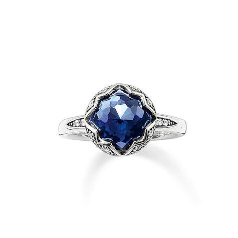 Thomas Sabo ring TR2028 W14 blauw